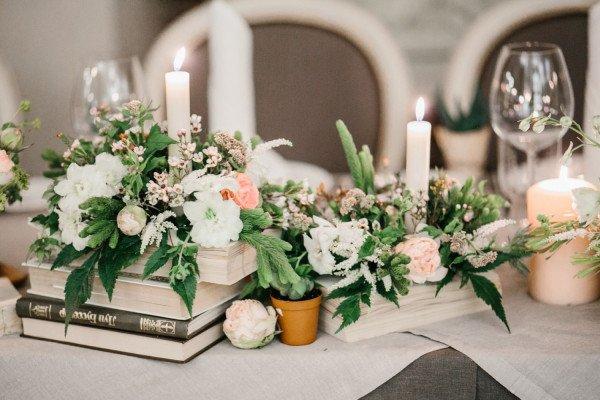 Оформление стола для свадебных подарков
